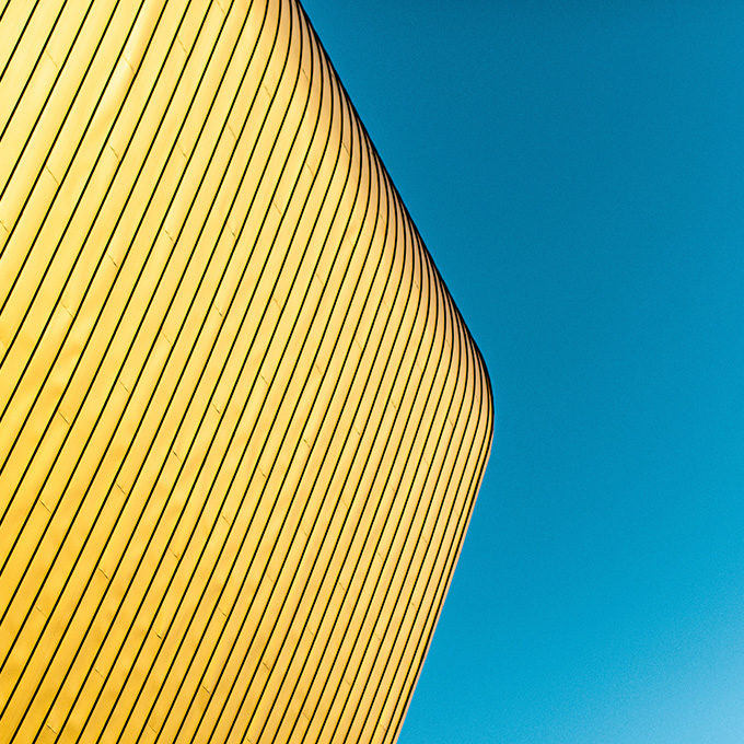 Yellow and Blue Striped